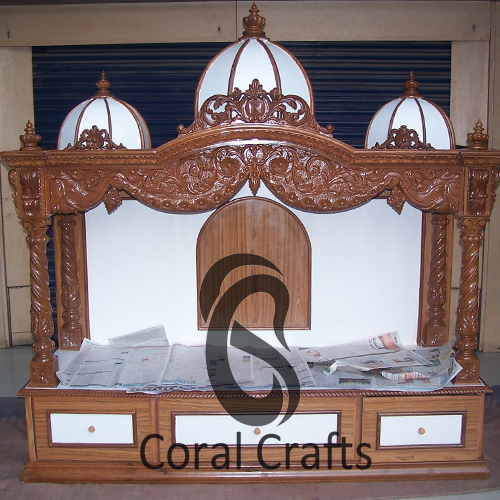Exquisite Wood Temple carved from Teak Wood=