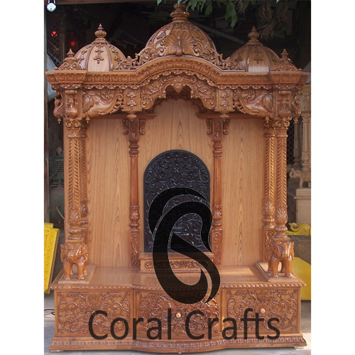 Exquisite Hand Carved Teak Wood Temple
