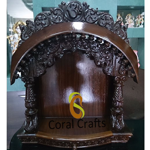 Buy Online Beautiful Wooden Wall Hanging Temple For Home Exporter Supplier Manufacturer